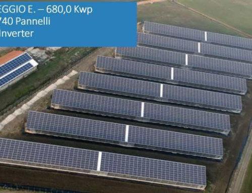 Serra fotovoltaica 680 kWp a Novellara (RE)