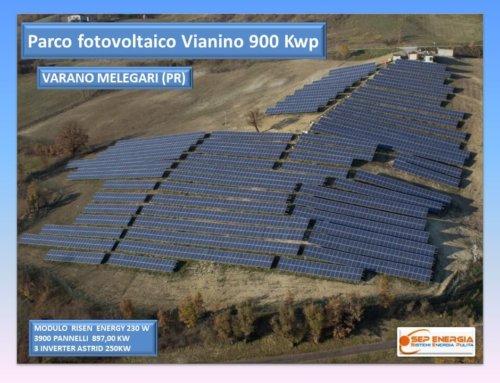 Parco fotovoltaico di Vianino 900 kWp a Varano Melegari